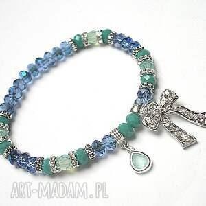 kolekcja rich boho - blue bow /21 03 17/, kryształki, swarovski, cyrkonie