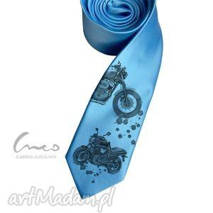 hand-made krawaty krawat z nadrukiem - motocykle są wszędzie