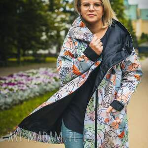 handmade płaszcze twarze oversizowy płaszcz z tkaniny wodoodpornej