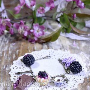 Jeżynowa bransoletka slodkie blyskotki jeżyna, owoce, fimo