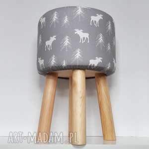 Pufa szary renifer - 45 cm czarna owca store krzesło, puf