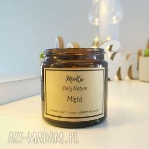 dom świeca sojowa z olejkiem eterycznym mięta
