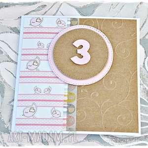 Kartka urodzinowe dla dziewczynki, personalizacja scrapbooking