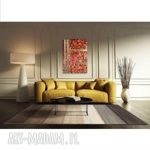 uciekające myśli 1, abstrakcja, kolory, płótno, akryl