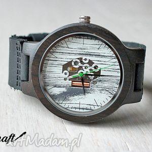 Drewniany zegarek EBONY SKELETON, heban, drewniany, zegarek, szkieleton, mechanizm