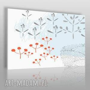 obrazy obraz na płótnie - natura polana 120x80 cm 62003, polana, rośliny, szlaczki