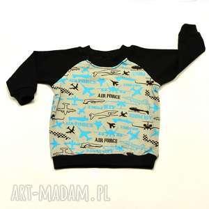 ręcznie robione samoloty bluzka bawełniana dla chłopca, rozmiary 68 -122