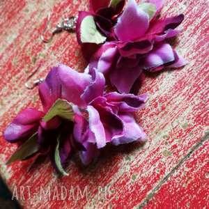 Kolczyki kwiaty etno boho długie lekkie ruda klara kwiaty, etno