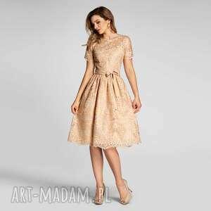 sukienki sukienka aida midi apollonia, midi, koronka, koronkowa