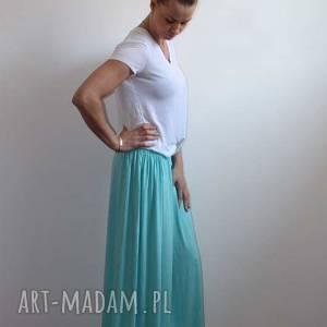 Długa zwiewna letnia spódnica błękitna, rozmiary, kolory, spódnica, letnia, boho