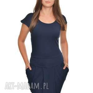 sukienki sukienka elgancka i stylowa z kieszeniami xs, sukienka, granat, damska
