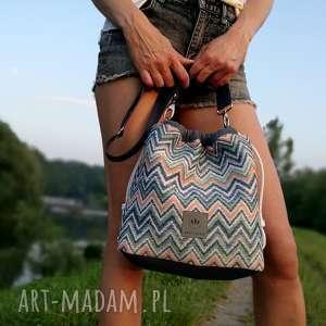 handmade na ramię torebka worek carmen