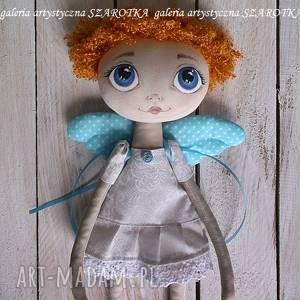 dekoracje anioŁek lalka - dekoracja tekstylna, ooak one of a kind, aniołek