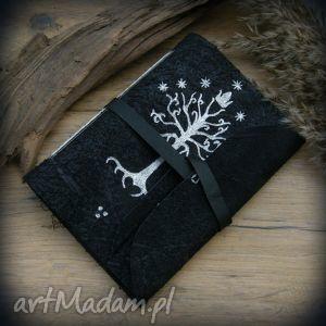 notesy notes a6 ze skórzaną miękką okładką drzewo gondoru - ręcznie robiony