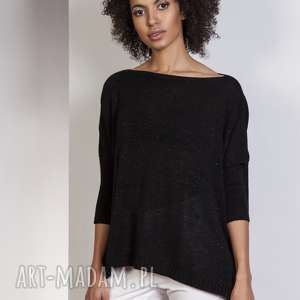 ręczne wykonanie swetry sweter oversize, swe114 czarny