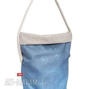 na ramię wór the pin - mandala jasnoniebieska z bawełnianą liną, wielofunkcyjny