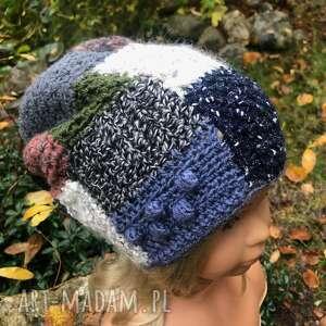 czapka patchworkowa, ciepła czapka, damska
