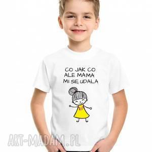 t-shirt koszulka dziecięcy co jak ale mama mi się udała, koszulka, dlasyna