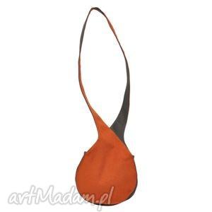 08-0009 pomarańczowa torebka listonoszka / fajne torebki młodzieżowe bluebird