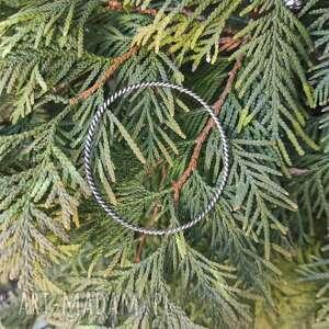 bransoleta spiralna srebrna, surowy, minimalistyczny, prosty, srebro 925