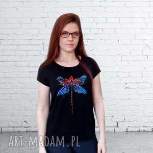 Bawełniana bluzka damska - ręcznie malowana unikalna bluzki