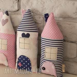 Domki dekoracyjne, dekoracje, domki, zawieszka, ozdoba, bawełna