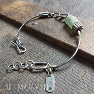 bransoletka ze srebra i szkła antycznego, szkło afgańskie, antyczne
