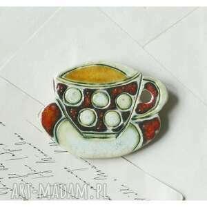 handmade broszki broszka fiiżanka