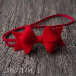 handmade pomysł na prezent święta opaska do włosów kokardka