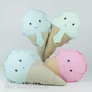 Słodka Lola! Poduszka w kształcie loda., pluszowe, przytulanka, lody, bawełna