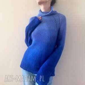 wełniany sweter z golfem alpaki, sweter, golf, bluzka, wełna, dzianina