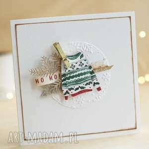 scrapbooking kartki kartka świąteczna, sweterek