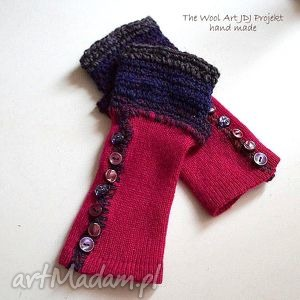 rękawiczki mitenki - rękawiczki, mitenki, orezent, różowe