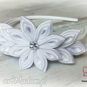 handmade ozdoby do włosów opaska dla dziewczynki z kwiatuszkami