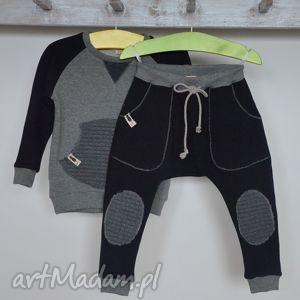 ubranka spodnie czarne baggy, spodnie, czarne, sznurek, łaty