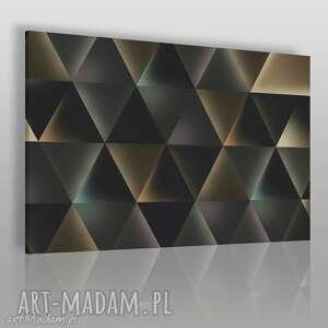 obraz na płótnie - trójkąty światło 120x80 cm 44701 , trójkąty, światło, łuna