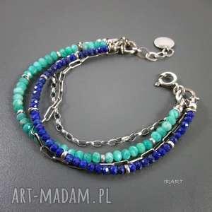 Lapis lazuli z amazonitem, lapis, amazonit