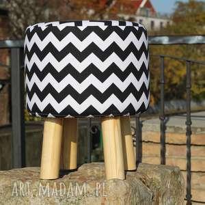 Pufa czarny zygzak - 36 cm czarna owca store puf, pufa, stołek