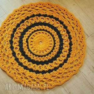 Mandala dywanik szydełkowy bawełniany zaamotanazofja