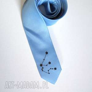 ręcznie wykonane krawaty krawat - znaki zodiaku wodnik