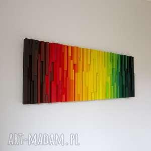 mozaika 3d, obraz drewnianykról lew, mozaika, drewniane, kolor, energia, wallart
