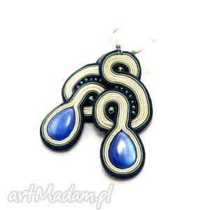 handmade kolczyki kolczyki sutasz z masą perłową