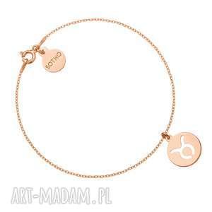 sotho bransoletka z zodiakiem byka z różowego złota - znak zodiaku