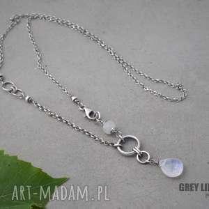 Kamień księżycowy naszyjnik, srebro, moonstone, kamień, księżycowy, minerały