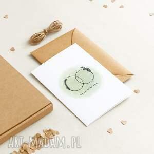 ekologiczna kartka okolicznościowa ślubna / z okazji rocznicy vxa, minimalizm