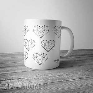 Kubek z sercami outline, serce, serca, grafika, kubek, kuchnia