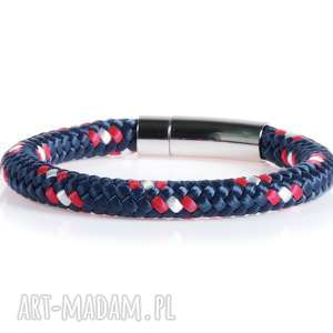 Męska bransoletka z liny żeglarskiej bransolety męskie bransoletki Argento akcesoria