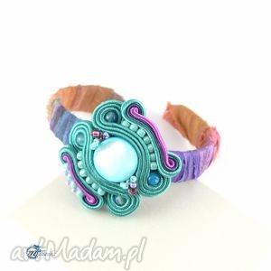 bransoletka boho - sutasz z jedwabiem - trendy, hippie