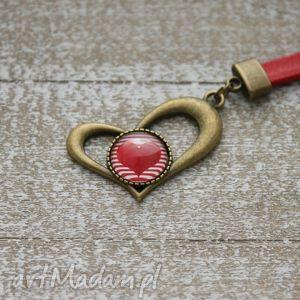 oryginalny prezent, breloki brelok z sercem, breloczek, długi, serca, serduszko