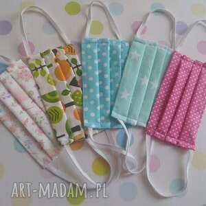 maseczka maseczki bawełniane dla dzieci pakiet 5 sztuk zestaw iii